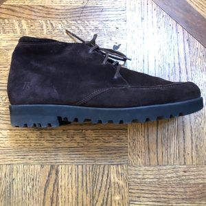 Paul Green Brown Suede Ankle Boots